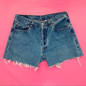 Levi's 501 cutoff denim shorts, 31